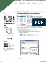Cara Membuat Amplop di Microsoft Word 2010 ~ Blog Andik Rasida