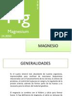 Magnesio y Bicarbonato