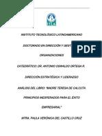 Resumen de Principios Inesperados Para El Exito Empresarial Paula Del Castillo