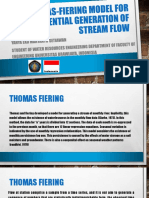 Thomas-Fiering Model for the Sequential Generation of Stream Flow