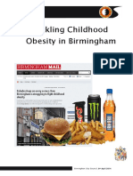 Childhood Obesity Scrutiny Review April 2014
