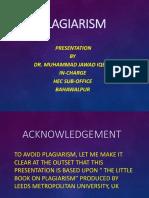 HEC Plagiarism Presentation