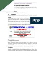 ESPECIFICACIONES TECNICAS COLEGIO