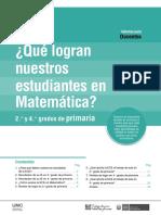 Informe Para Docentes Matemática ECE 2016
