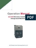 EC100 Elevator Intelligent Integrated Machine Operation Maual V2.3