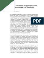 Causas Económicas de Las Guerras Civiles y Sus Implicaciones Para El Diseño de Políticas.