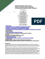 Conceptualización y Política Intervencion Temprana