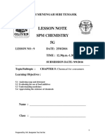 Lesson Note Chapter 5 25 August 2016