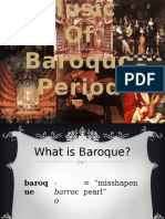 The Music of Baroque Period