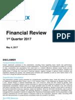 Financial Review First Quarter 2017