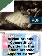 23832248 Arvind Brands Competitive Position