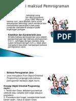 Materi Java Pertemuan 1