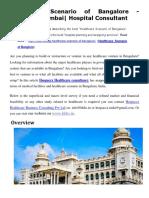 Healthcare Scenario of Bangalore | Hospaccx Mumbai| Hospital Consultant