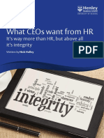 What CEOs Want From HR?