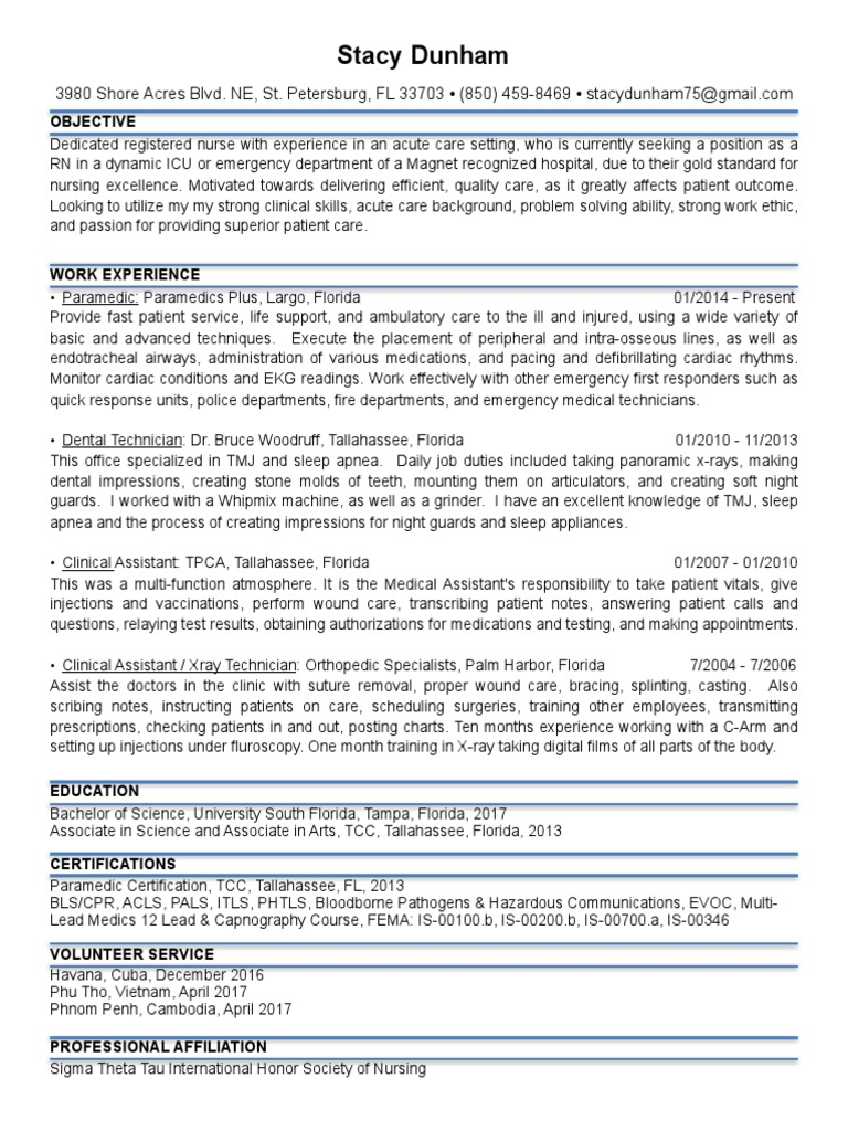 Resume pdf paramedic emergency medical technician 1betcityfo Gallery
