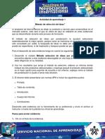 Evidencia 10 Informe Metodo de Seleccion