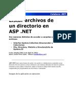 Listar Archivos de Un Directorio en ASP