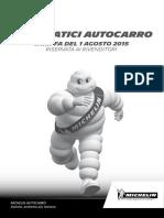 Listino Michelin Autocarro 2015