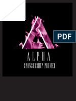 Alpha Sponsorship Primer