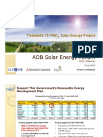 Thailand's 73 MWdc Solar Energy Project