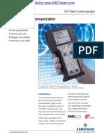 Emerson HART 375 Field Communicator Specifications Spec Sheet