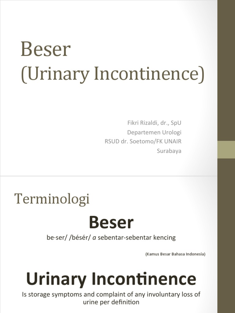 beser | urinary incontinence | urination