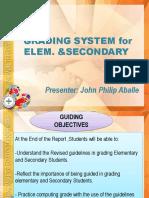 Grading System in K-12 Curriculum