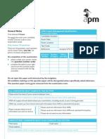 Sample Management Exam Paper 170317v5
