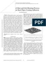 The Effects of Shot and Grit Blasting Process Parameters on Steel Pipes Coating Adhesion