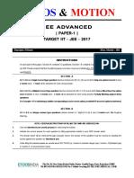 2017 Sample Paper 1 Jee Advanced Maths (1)