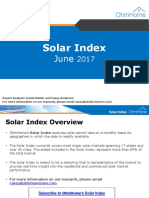 OhmHome Monthly Solar Index June 2017
