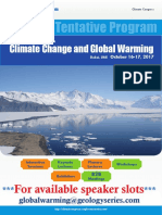 Climate Congress 2017 Tentative Program