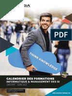 Calendrier Des Formations Janvier - Juin 2017