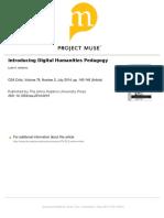 Introducing Digital Humanities Pedagogy