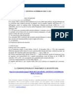 Fisco e Diritto - Corte Di Cassazione n 2912 2010