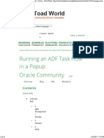 Running an ADF Task Flow In
