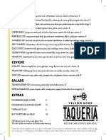 Yellow Door Taqueria Menu