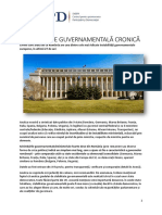 Instabilitate Guvernamentala Cronica - Studiu CPD