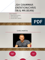 English Grammar Presentation(CHRIS MARTIN & MR
