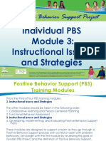 Individual PBS Module 3 Instructional Issues and Strategies