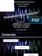 Propiedades de La Radiacion