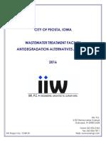 WASTEWATER TREATMENT FACILITY ANTIDEGRADATION ALTERNATIVES ANALYSIS