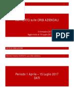 Report Vertenze 1 Aprile -15 Luglio 2017
