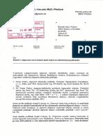 Žiadost' o objasnenie nezrovnalostí medzi dopravno-inžinierskymi podkladmi
