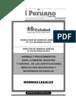 Aprueban Directiva n 015 Gg Essalud 2014 Normas y Procedimientos Para La Emis 1197882 1