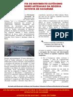Carta Aberta do Movimento Autônomo dos Pescadores Artesanais da Reserva Extrativista de Cassurubá