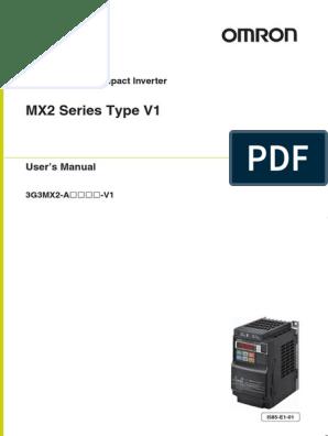 Mx2 V1 Inverter Usersmanual En 201305 I585 E1 01 Power Supply Specification Technical Standard Free 30 Day Trial Scribd