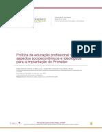 DEITOS, R. Et Al. Política de Educação Profissional No Brasil