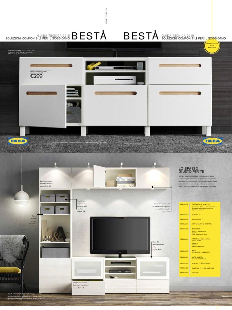 Soggiorno Besta Ikea. Free Best Tvante A Vetro Marronenero ...