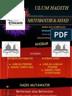 Hadis-Mutawatir-Dan-Ahad.pptx